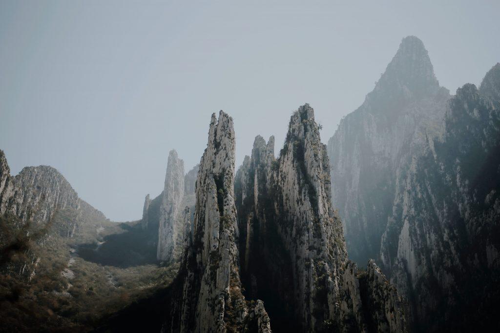 mountain peaks at La Huasteca, Mexico