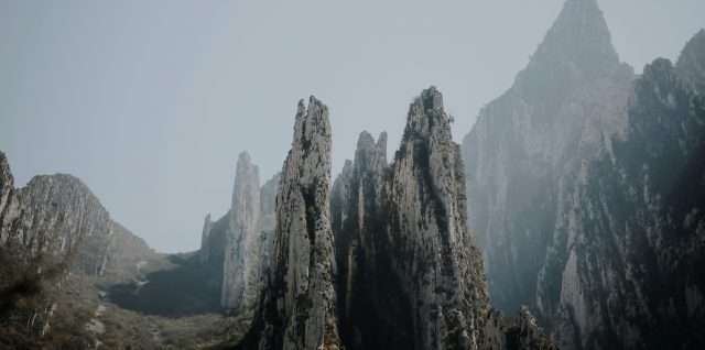 mountain peaks at La Huasteca, Mexico