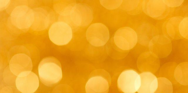 Abstract golden bokeh.